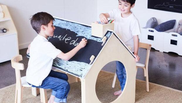 de kleine generatie, houten speelgoed, speelhuisjes