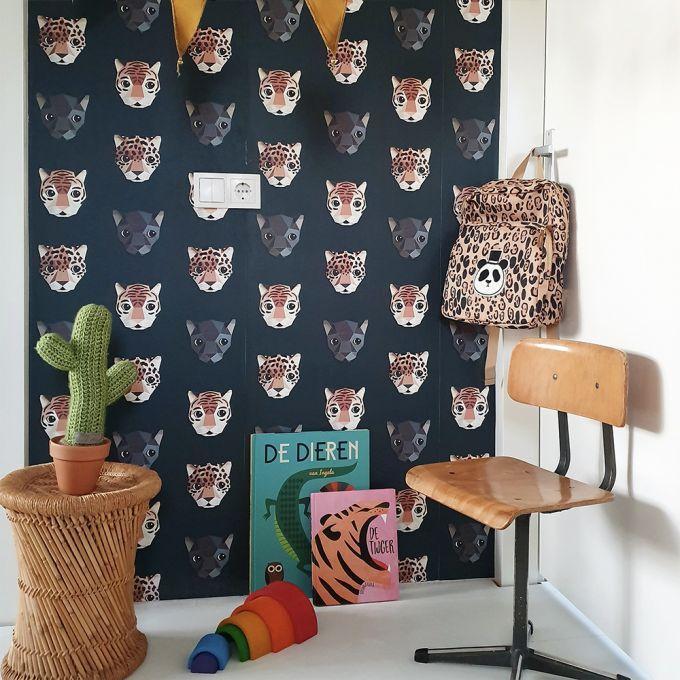 panter behang, behang kinderkamer, de kleine generatie, studio ditte behang, jongenskamer inspiratie