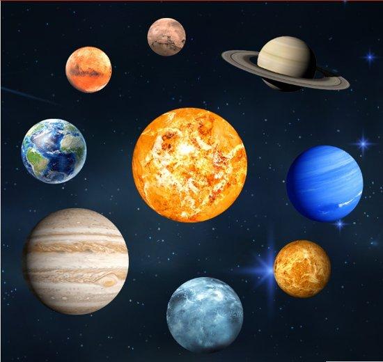 heelal stickers, universum stickers, planeten stickers