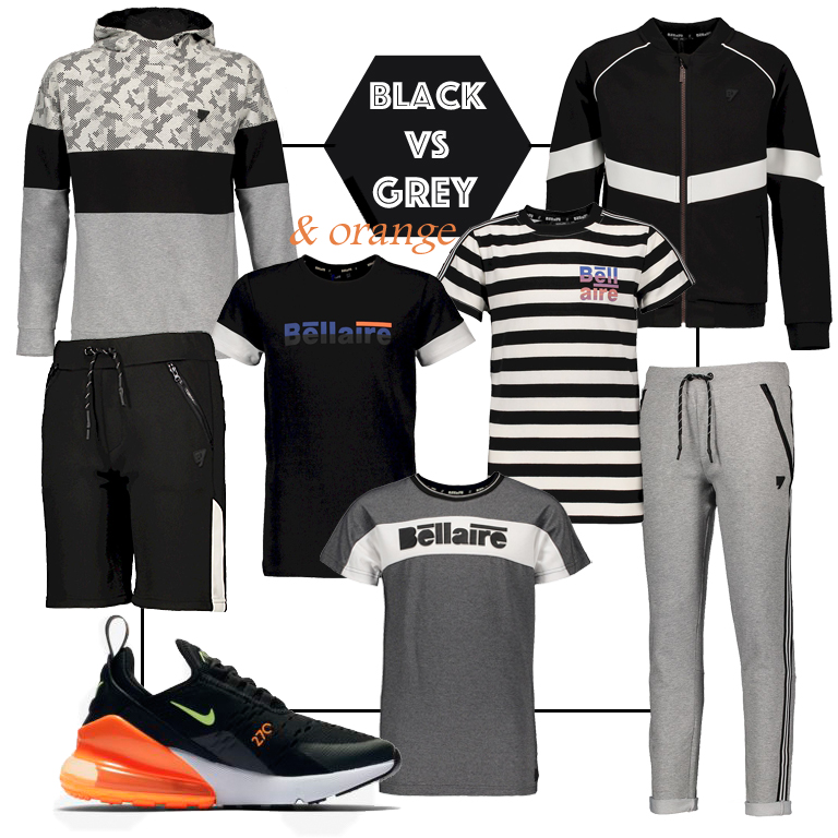 tienerkleding jongen, zwart wit kleding jongen, black white clothes, boysstyle, boyslook, jongenskleding, bellaire onine kopne, bellaire webshop
