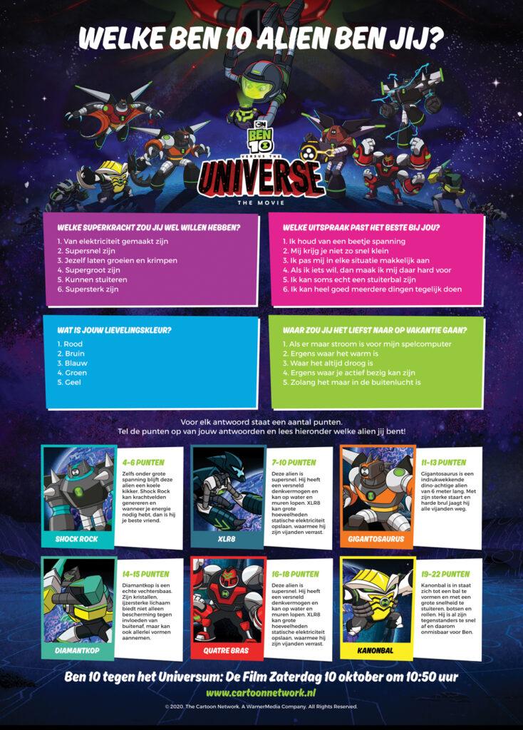 BEN 10 film, BEN 10 superhelden poster, tv series voor kinderen