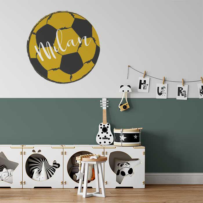 Voetbal muursticker, voetbalsticker, voetbalkamer, jongenskamer inspiratie