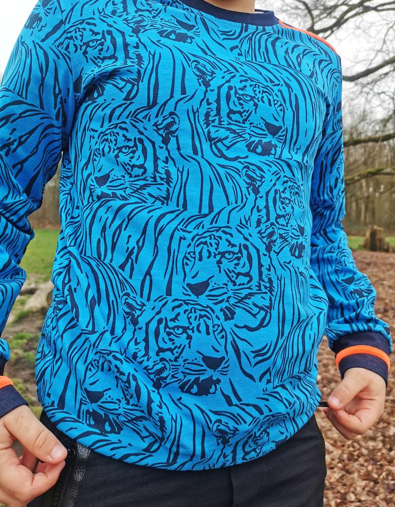 sweater legends22, sweater tijgerprint jongen, jongensmerk, jongensmerk legends22