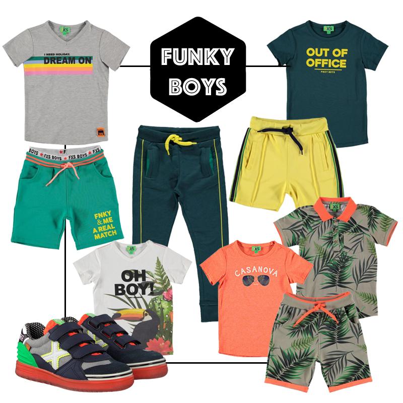 kinderkleding met kleur, jongenskleding, zomerkleding jongen, get the look jongens kleding, funky xs, kinderkleding styling