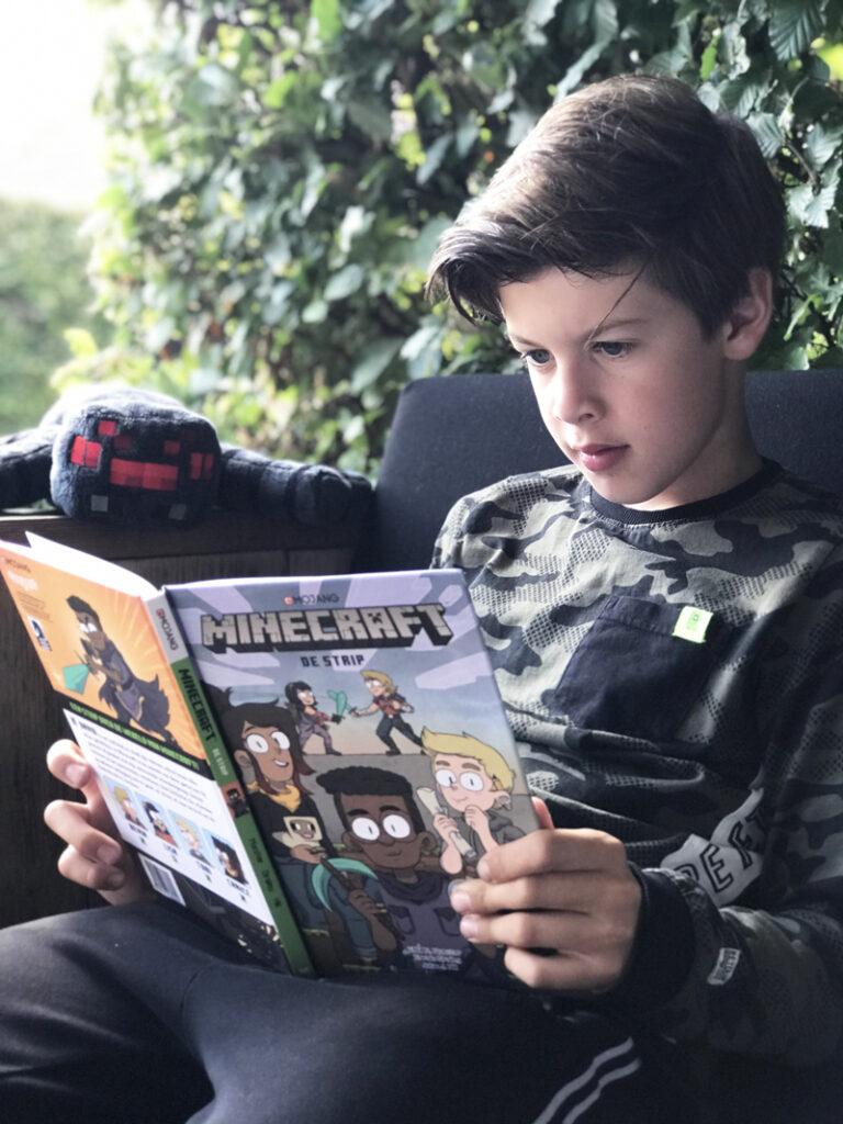 minecraft de strip, favoriete kinderboeken, kinderboeken top10, jongensboeken,