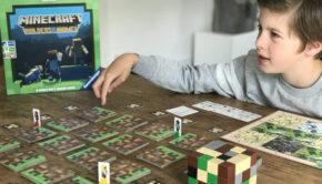 minecraft bordspel, minecraft spel, ravensburger, jongens spellen, cadeau jongen 10 jaar, spel jongen 10 jaar, spel jongen 11 jaar, spel jongen 12 jaar, spelletjes review boyslabel, minecraft review