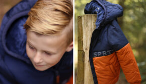 moodstreet winterjas, jongensjas, kinderjas jongens, bruine winterjas jongen, blauwe winterjas jongen