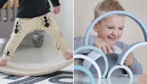 houten speelgoed, hobbel, wobbel balans bord, wobbel balance board, speelgoed waar je kind van leert , leerzaam speelgoed, educatief speelgoed