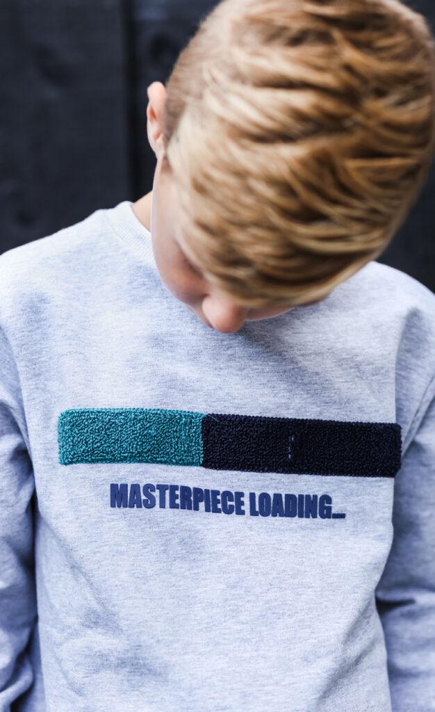 mister t sweater, grijze sweater jongen, Mister T broek, joggingbroek jongen