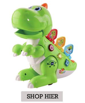 kleine jongens speelgoed, dino, speelgoed dinosaurus, vtech dino