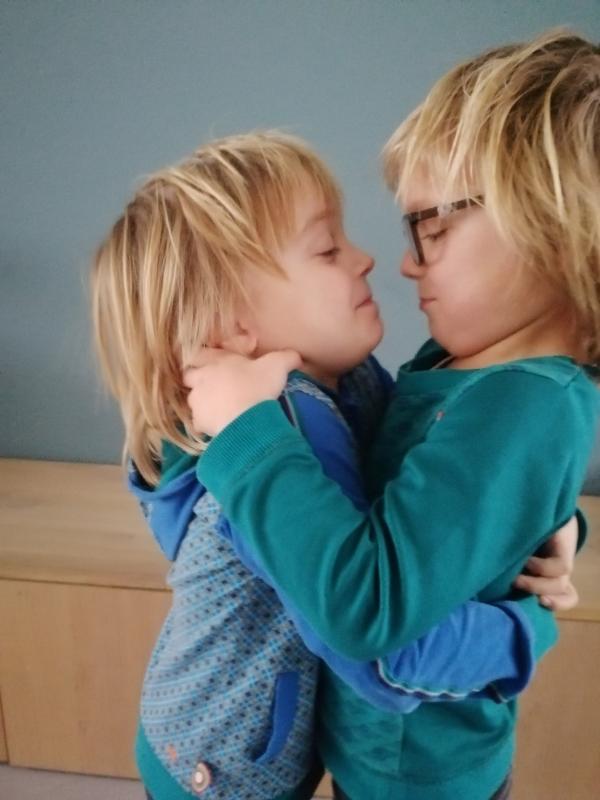 Twee-eiige tweeling jongens, tweeling