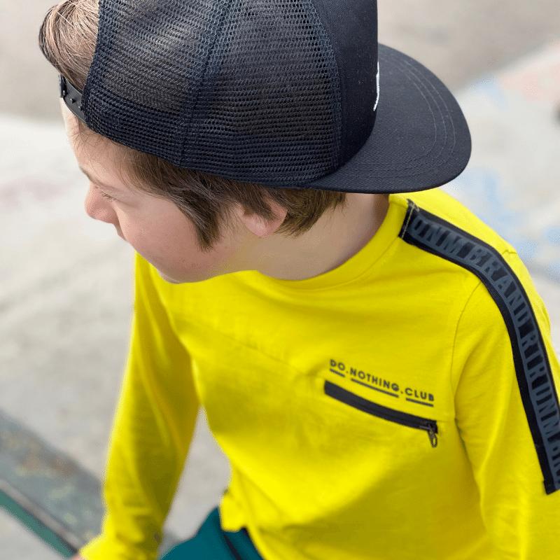 longsleeve jongens shirt raoul, retour jeans raoul, longsleeve raoul fresh yellow, geel t-shirt