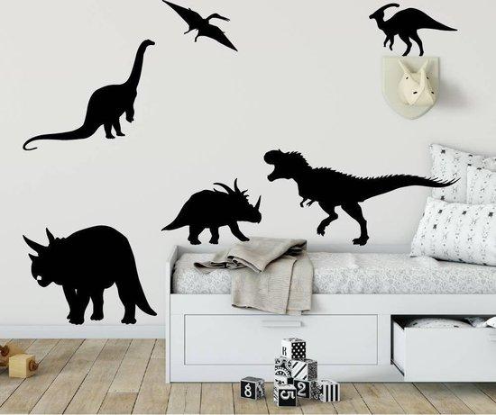 zwarte dino muurstickers