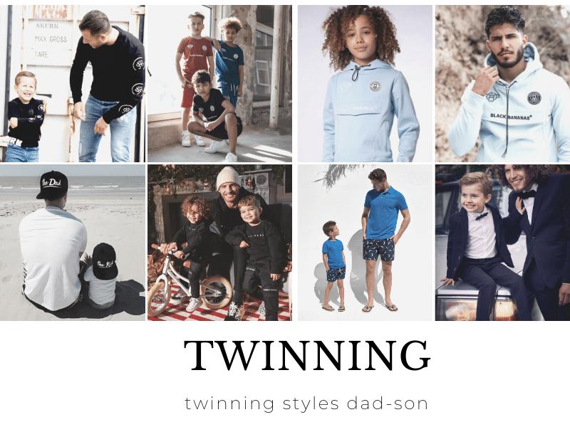 vader zoon twinning, twinning styles dad son, twinnen vader en zoon, twinning, twinnen met papa, twinning merken, twinning vader zoon kledingmerken, twinning fashion