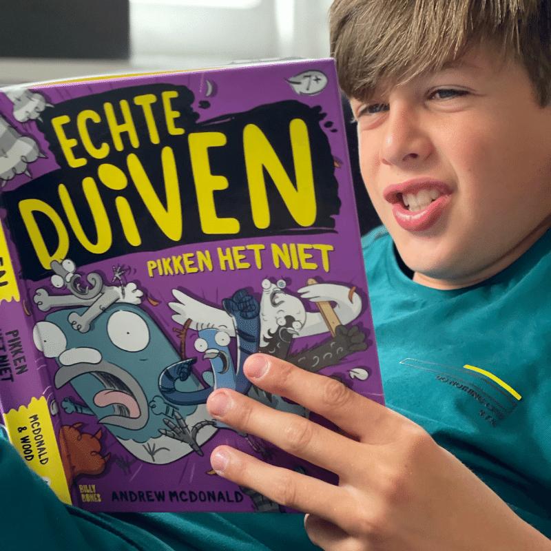 Echte Duiven pikken het niet, echte duiven serie, boek duiven, dyslexie boek, leuk kinderboek, billy bones,