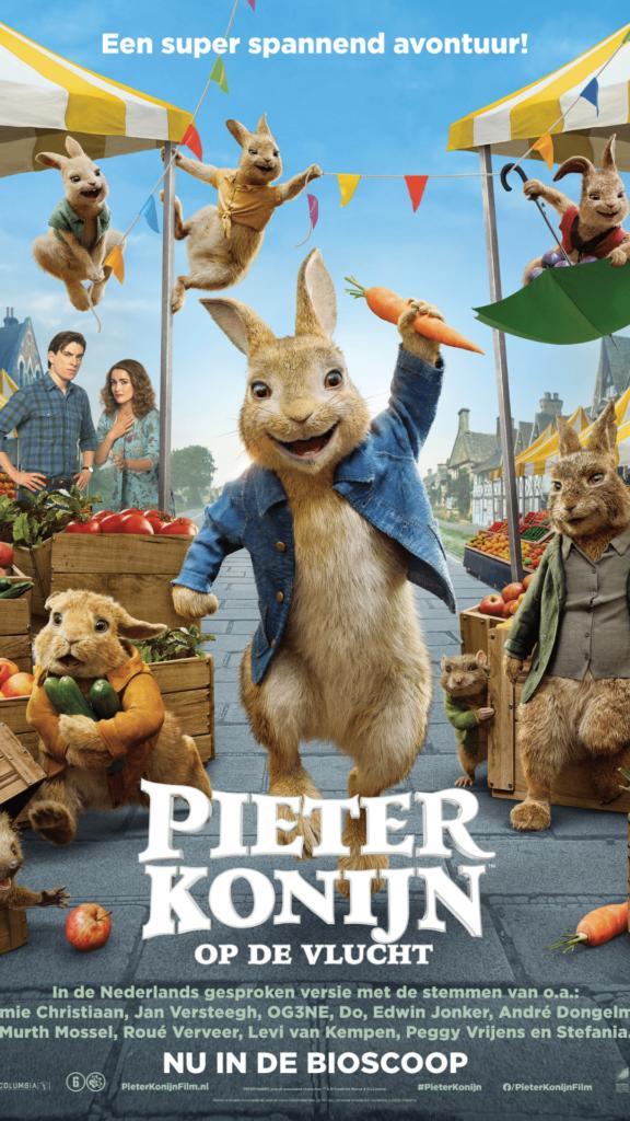 pieter konijn op de vlucht, nieuwe bioscoopfilm, pieter konijn op de vlucht winactie