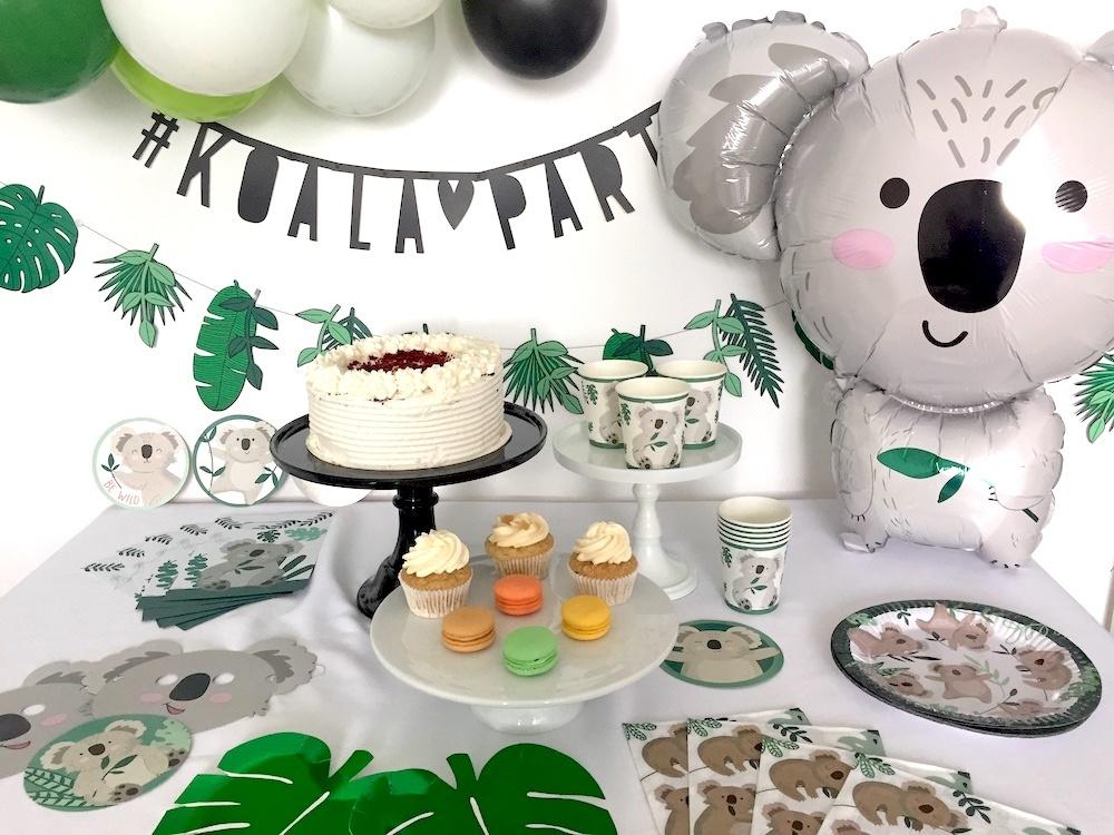 koala feestje, kinderfeestje koala thema, kinderfeestje dieren thema, feestversiering