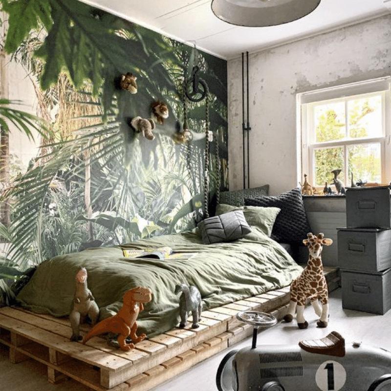 jungle kamer, jungle kinderkamer, jungle kamer maken, jungle jongenskamer, jungle themakamer