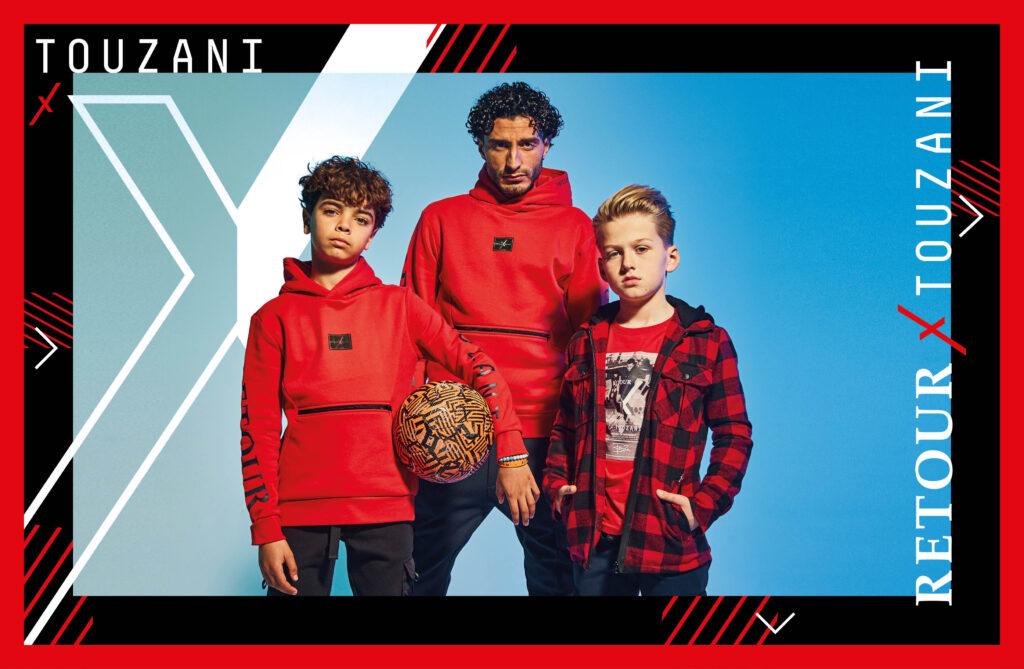 Retour x Touzani , touzani kleding, touzani kids collectie, panna koning, touzani straatvoetbal, touzani kinderkleding lijn