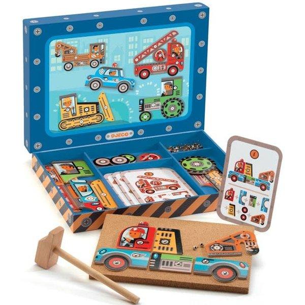 hamertje tik voertuigen, houten speelgoed, leuk cadeau jongen 2 jaar, leuk cadeau jongen 3 jaar, 4 jaar, speelgoed jongens, houten speelgoed jongens