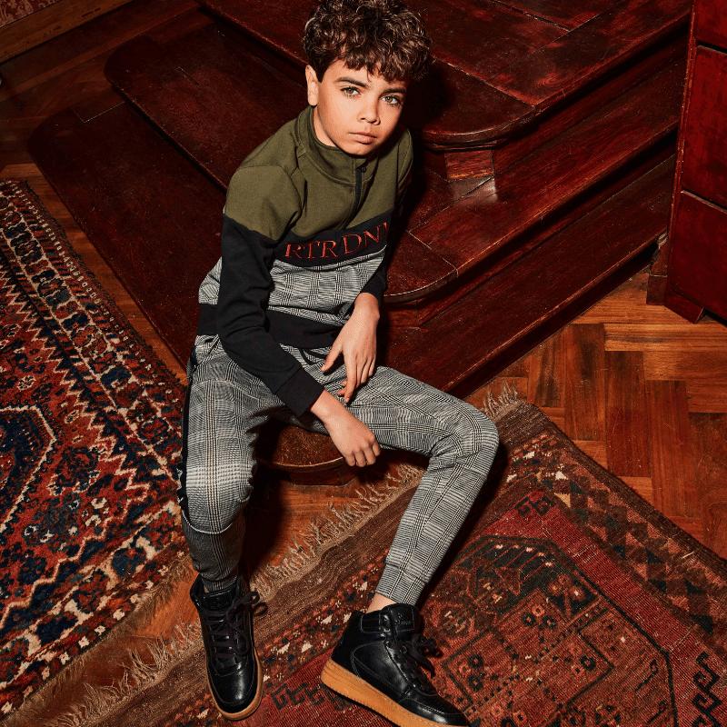 Retour Jeans, retour kinderkleding, retour denim de luxe, retour winter 2020-2021, nieuwe collectie retour jeans, geruite broek, ruitprint, ruit broek, ruit jongensbroek, ruit jongenskleding