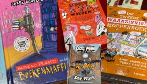 kinderboekenweek 2021, kinderboeken voor jongens, jongensboek, jongensboeken, leuke jongensboeken, leuke boeken voor jongens, bureau speurneus, jozua douglas, dogman serie, waanzinnige moppenboek